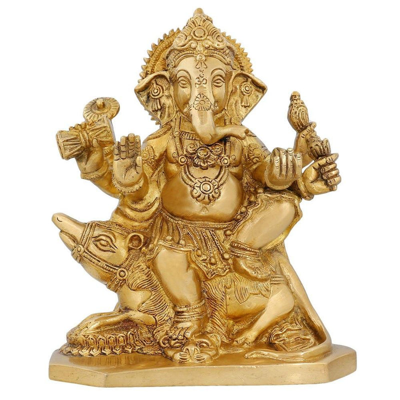Indian Statues And Sculptures Hindu God Décor Ganesha Religious Décor 8 inch