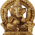 Indian Art Ganesha Statue Brass For Performing Puja At Home Temple Mandir 3 inch