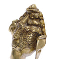Wall Sculpture Lord Ganesha Head Brass Statue