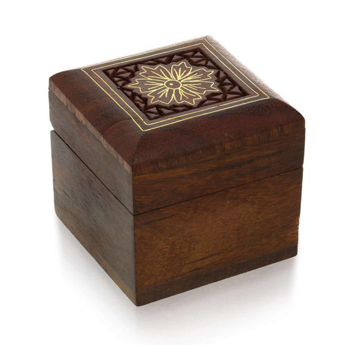 Handmade Wooden Box for Jewelry - Wood Trinket Box - Perfect for Rings, Earrings, Toe Rings & Cuff Links