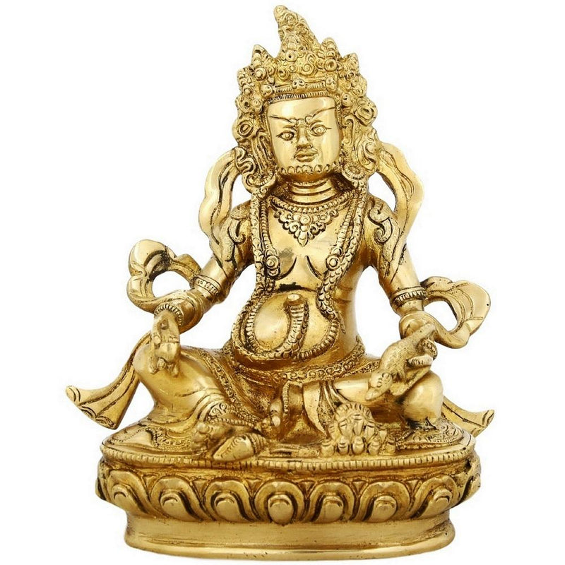 Brass Statue Of Kuber God of Wealth Religious Gift 9 Inch Weight-2.8 Kg