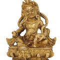 Kuber Idol Hindu God of Wealth for Diwali Puja Brass Statue 4 Inch