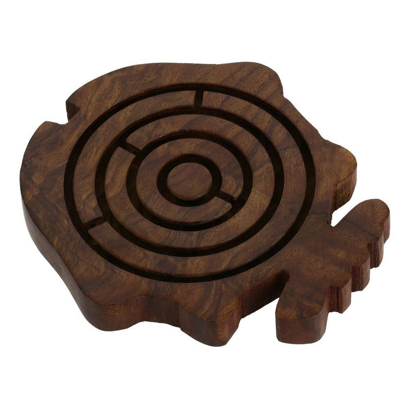 Wooden Fish Game Toys Labyrinth Balls In Maze Puzzle by ShalinIndia