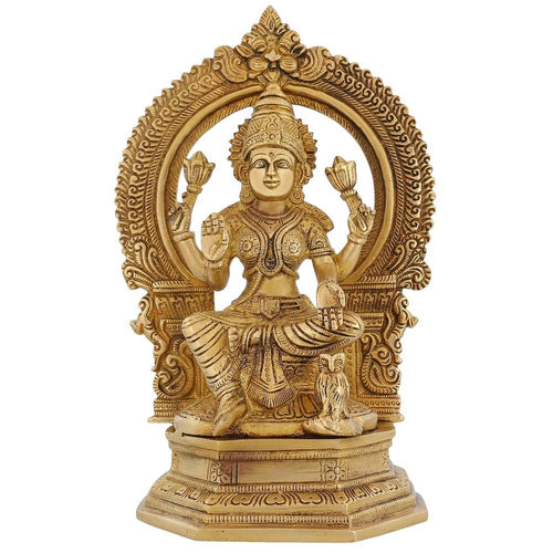 Indian Statues And Sculptures Laxmi Mata Brass For Diwali Puja 9.75 Inch2.8 Kg