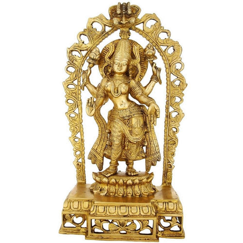 Religious Gifts Brass Statue Goddess Lakshmi Large Hinduism 17 Inch5.5 Kg