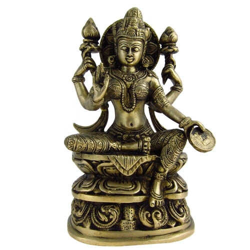 Lakshmi Statues of Goddess Hindu Figurine Indian Gifts 8 Inches