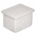 White Marble Art Small Rectangular Jewelry Box for Rings, Unique Gift for Wife
