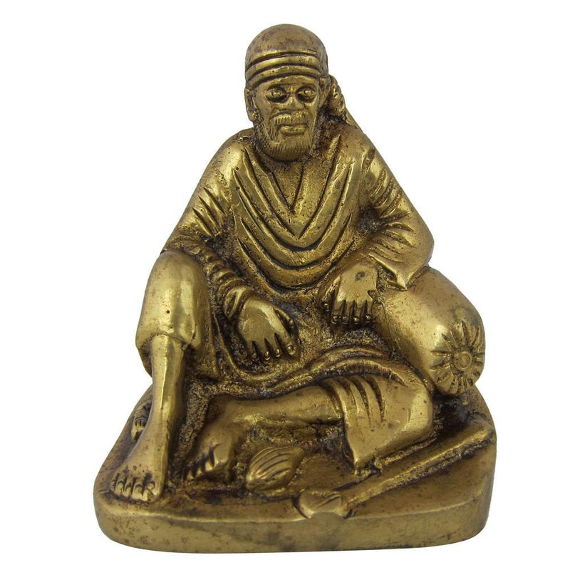Brass Sculpture Religious Statue Sai Baba Metal Art Sculpture