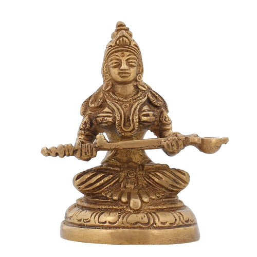 Brass Statue The Mother Of Satisfaction Ma Santoshi Hindu Puja 3.5 Inch300 GR