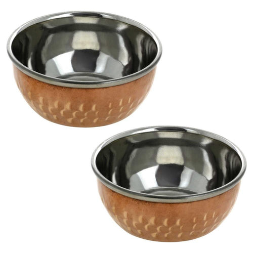 Serveware Indian Utensils Copper Serving Bowl Dinnerware Katoris Set of 2