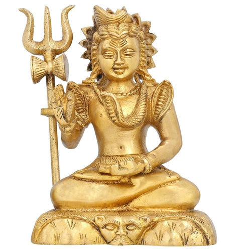 Hindu God Shiva Idol in Blessing Mudra Figurine Sculpture for Home Decor H:6 InchWt:1.6 Kg