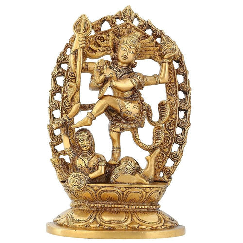 Hindu God Shiva And Shakti Statue Hinduism Décor Brass For Puja 9 inch2.3 Kg