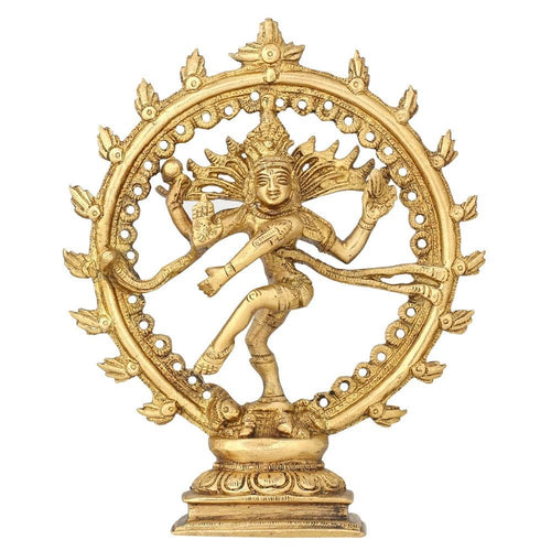 Hindu God Shiva Natarajan Statue Indian Religious Sculpture 6.5 Inches 550 gram