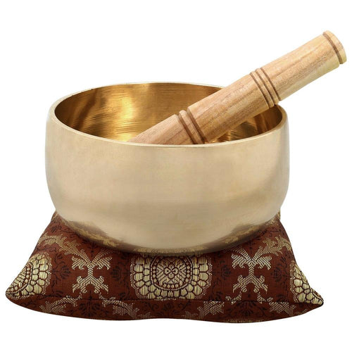 Singing Bowl For Healing Through Vibration Touch Bell Metal Art India 6 inches