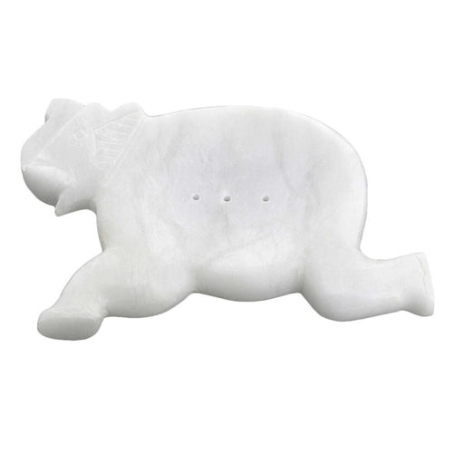 Soap Dish Marble Stone Art Elephant For Bathroom Decor Accessories