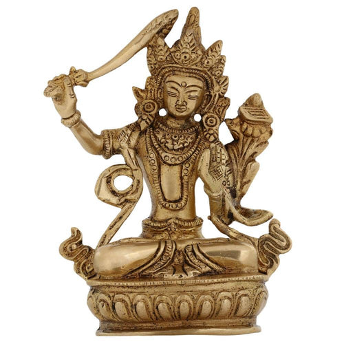 ShalinIndia Buddhist Metal Art Seated Tara Buddha