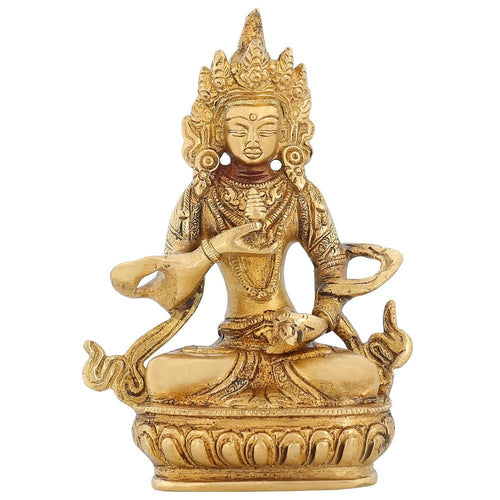 Buddhist Art Tara Buddha Home Decor Brass Metal Statue Religious Gifts 5 inch -600 GR