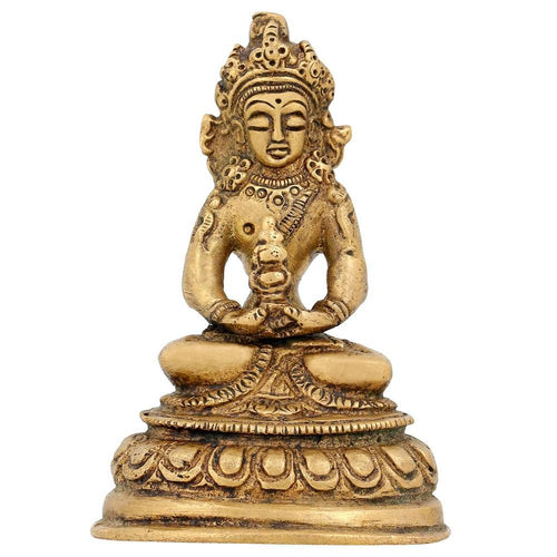 Statue Tara Buddha Figurine Buddhist Art For Home Brass Idol 3 inch -150 Gram