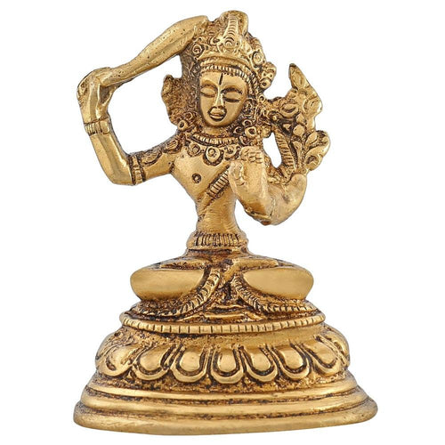 Buddism Home Décor Tara Buddha Brass Figurine Indian Handmade 3 inch -150 Gram
