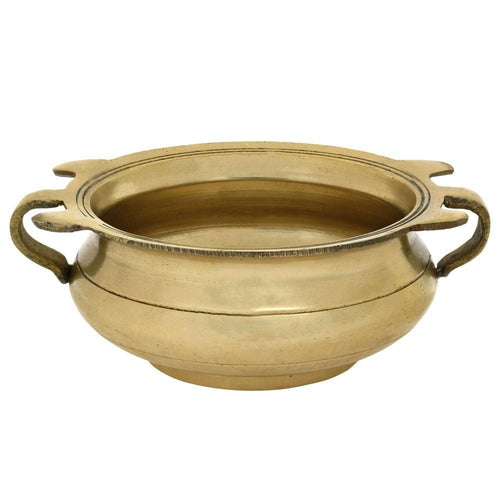ShalinIndia Handmade Brass Urli Bowl - 2 inches by 4.25 inches - Traditional Cookware - Perfect for Floating Flowers