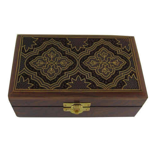 ShalinIndia Handmade Indian Wood Jewelry Box - Jewelry Box for Girls and Ladies - Best Gifts for Women