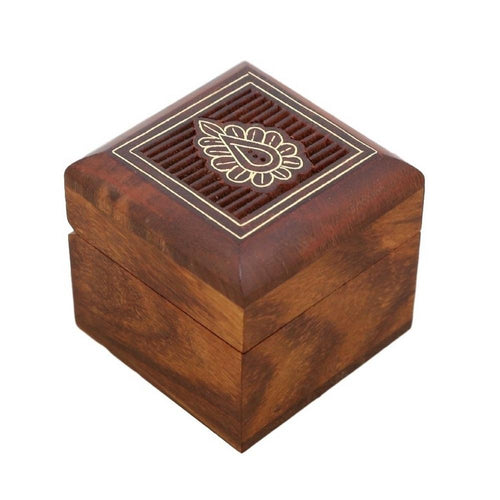 ShalinIndia Wooden Box for Jewelry Handmade Indian - Perfect for Rings,2X2X2 Inch,wc_ring_box_6