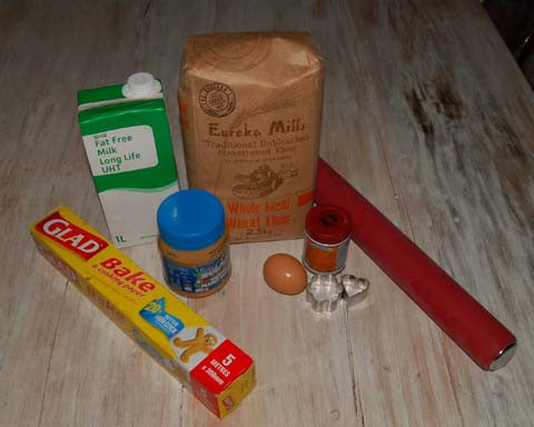 Ingredients for Peanut Butter Dog Treats
