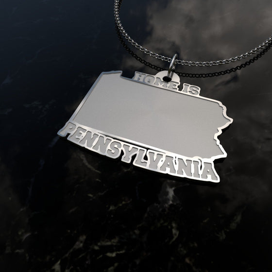 Home Is Pennsylvania - [Solid 925 Sterling Silver]