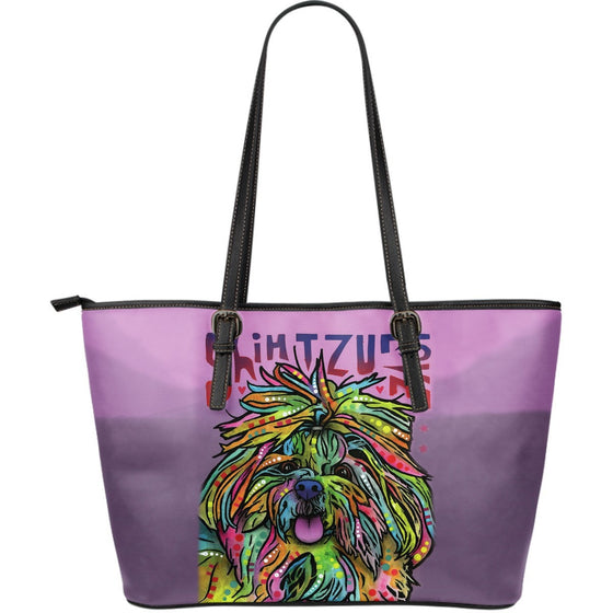 Shih Tzu Leather Tote (Large)