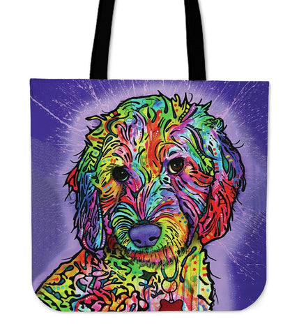 Poodle Tote Bags