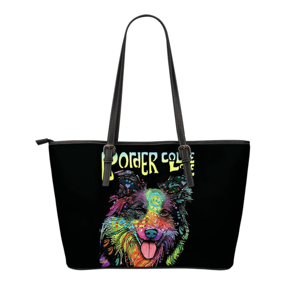 Border Collie Leather Tote (Small)