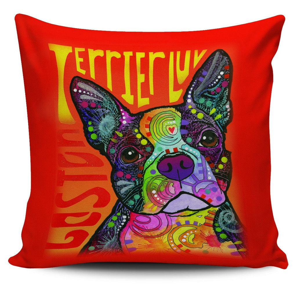 Boston Terrier Pillow Covers