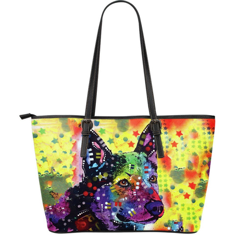 Australian Cattle Dog Leather Tote (Large)