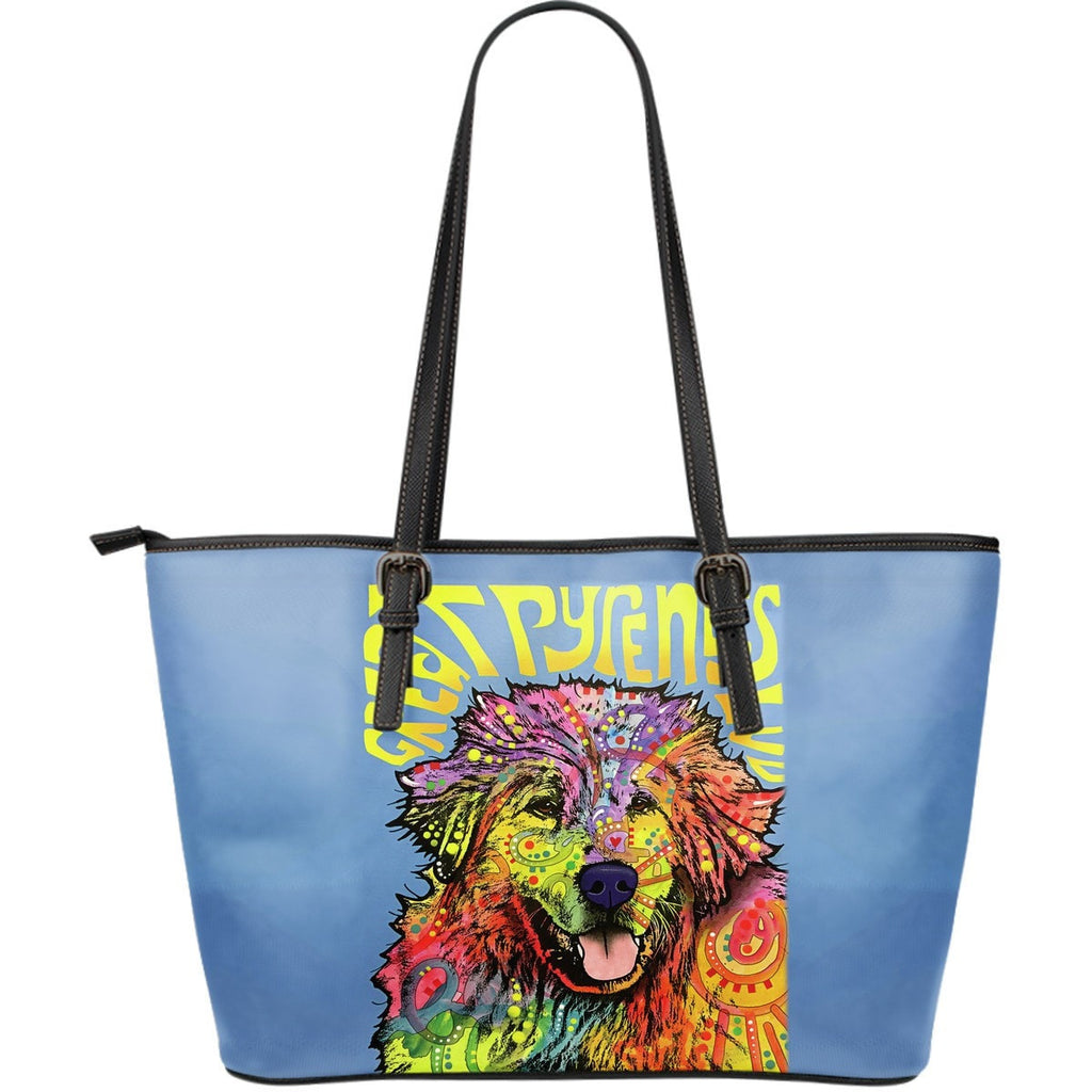 Great Pyrenees Leather Tote (Large)