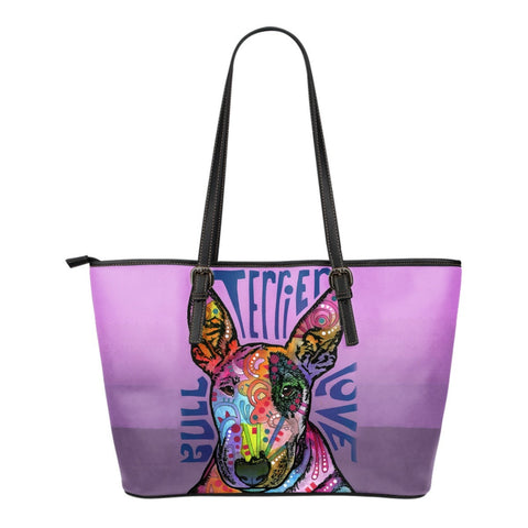 Bull Terrier Leather Tote (Small)
