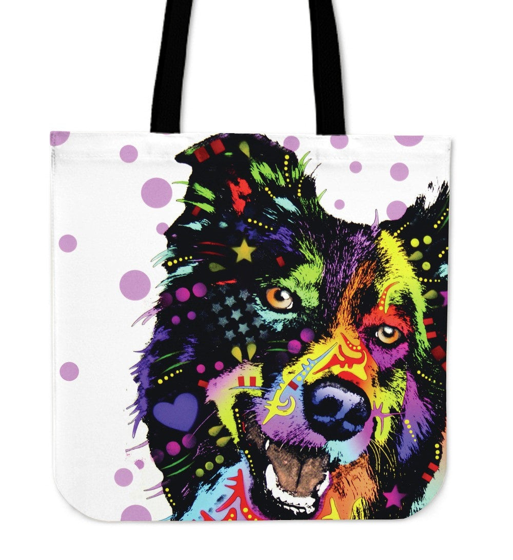 Border Collie Tote Bags