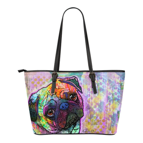 Pug Leather Totes (Small)