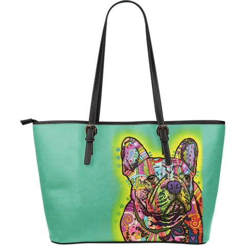 French Bulldog Leather Totes (Large)