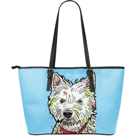 Westie Leather Totes (Large)