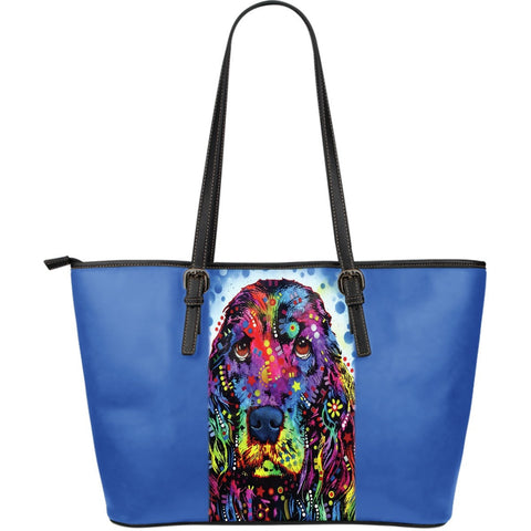 Cocker Spaniel Leather Tote (Large)