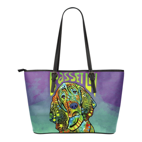 Basset Hound  Leather Totes (Small)