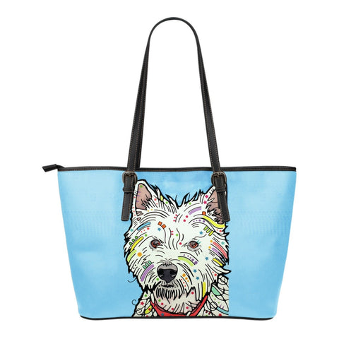 Westie Leather Totes (Small)