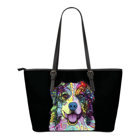 Australian Shepherd Leather Tote (Small)