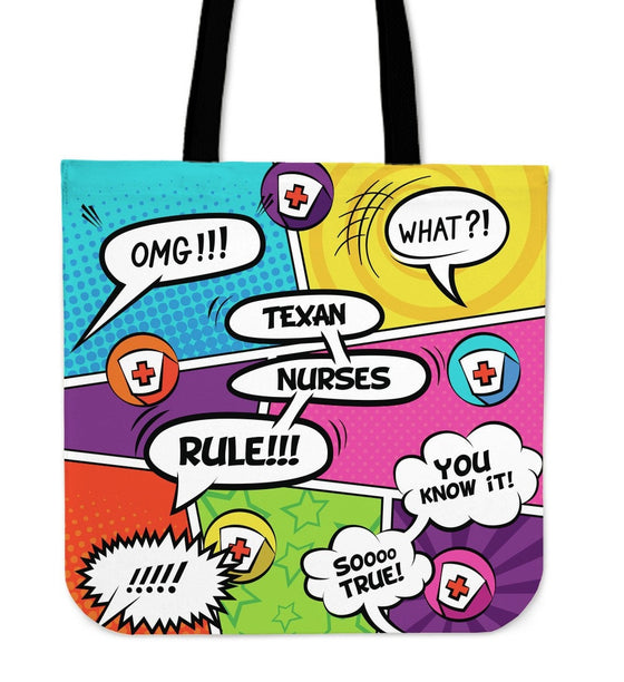 TX Comic Nurse Tote Bag
