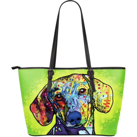 Dachshund Leather Totes (Large)