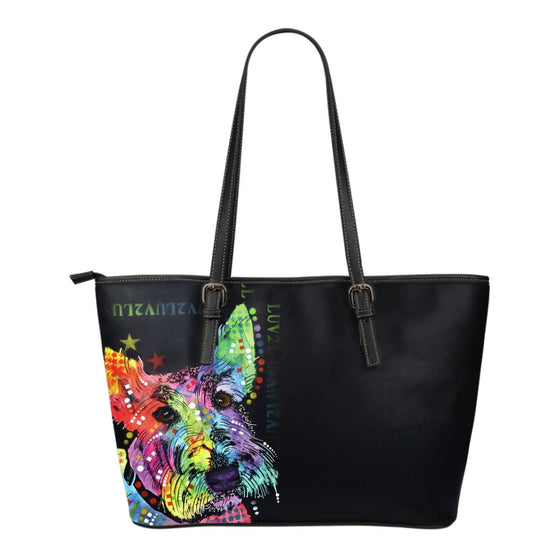Scottish Terrier Leather Totes (Small)
