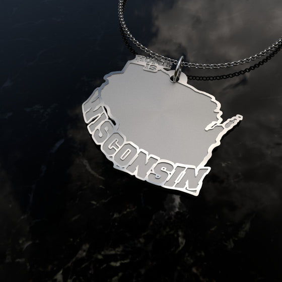 Home Is Wisconsin - [Solid 925 Sterling Silver]