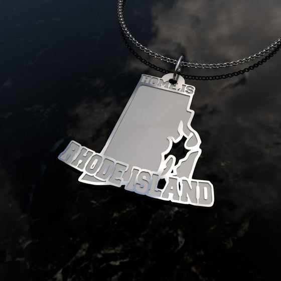 Home Is Rhode Island - [Solid 925 Sterling Silver]
