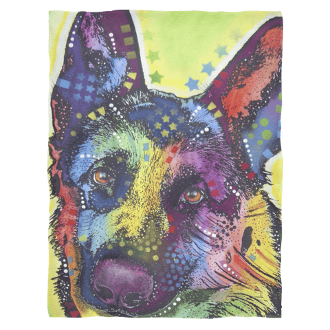 German Shepherd Fleece Blanket V3