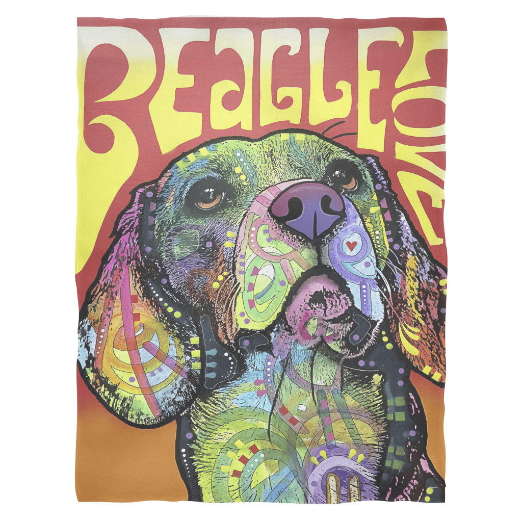 Beagle Love Fleece Blanket V1